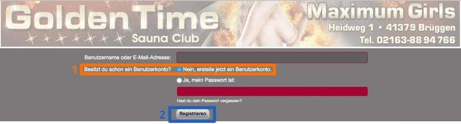 Rheinforum Registrierung - zweiter Screenshot