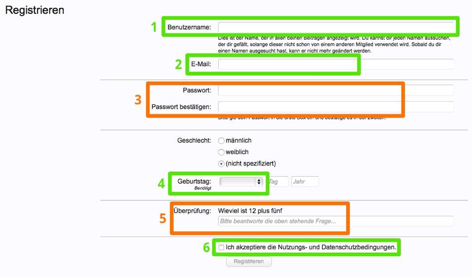 Rheinforum Registrierung - dritter Screenshot