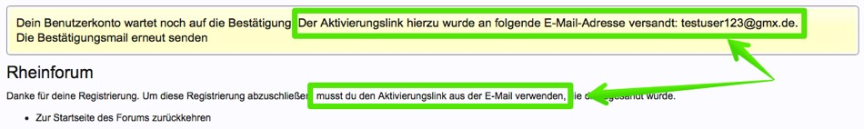 Rheinforum Registrierung - vierter Screenshot